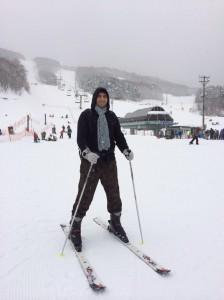 On peut skier pas très loin de Sendaï